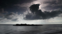 Timelaps, the clouds over the sea Stock Footage