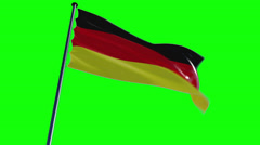 Germany Flag with greenscreen and alpha Stock Footage