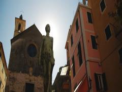 Pan of old Italian Village Stock Footage
