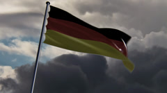 Germany Flag, HQ animated on an epic doomy background Stock Footage
