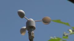 Weather vane, weather station on a windy summer day, forecast - stock footage