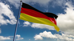 Germany Flag, HQ animated on an epic background Stock Footage