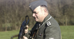 WW2 - German Soldier 3 - 54 Stock Footage