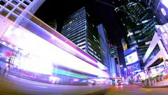Central. Hong Kong City Night Timelapse. 4K Wide Shot. Stock Footage
