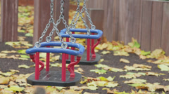 Toddler Swing - stock footage