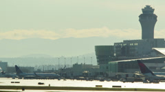 Time-lapse of Portland Airport Stock Footage