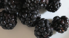 Panning of Blackberry and Cherry - Great Antioxidant Stock Footage