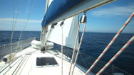Stock Video Footage of View of sailboat from deck on Adriatic sea