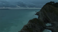 Iridescent blue water in Dorset England Stock Footage