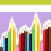 close-up pencil. - stock illustration