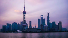 The Pudong new district and Huangpu River in Shanghai,China Stock Footage
