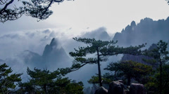 Time lapse of Yellow Mountain in Anhui Province, China Stock Footage