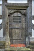 tudor door, shropshire - stock photo