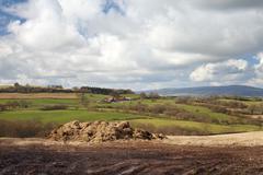 worcestershire landscape - stock photo