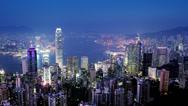 Stock Video Footage of Hong Kong. 4K Zoom Out Shot.
