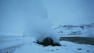 Stock Video Footage of Steam from geothermal vents at Hverarönd Iceland