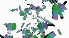 Abstract arrow collision flying art background,Cartoon toys&Fairy tale Sci-fi. - stock footage