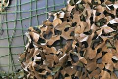 Camouflage netting Stock Photos