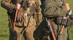 WW2 - German Soldier Group 1 - 02 Stock Footage