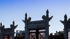 The royal door of Altar in Temple of Earth, Beijing, China Stock Footage