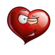 Heart faces - winking Stock Illustration