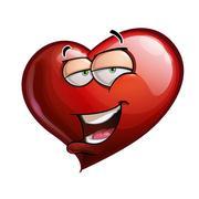 heart faces - hi. - stock illustration