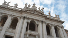 St john lateran Basilica in Rome, Italy Stock Footage
