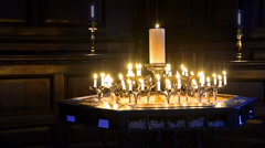 Stock Video Footage of london st. paul cathedral candlelight - stock video