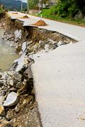 landslide - stock photo