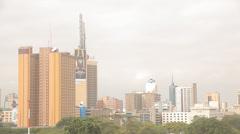 Downtown Nairobi, Kenya Stock Footage