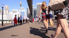 TIMELAPSE CROWD CITY PEOPLE SYDNEY Stock Footage