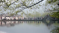 The beautiful scene in Hong Village, Anhui Province, China Stock Footage