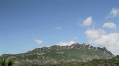The floating cloud and Simatai Great Wall, Beijing, China Stock Footage