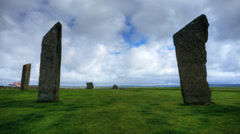 The Standing Stones of Stenness, Orkney Stock Footage