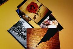 photo album with copy space - stock photo