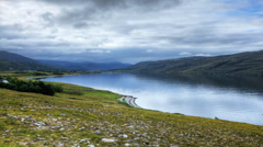 A timelapse view of Ullapool, Scotland - stock footage