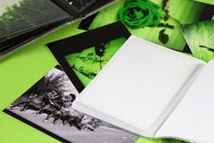 photo album - stock photo