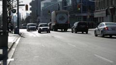 Cars on Bloor Street Stock Footage