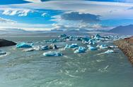 Stock Photo of jokulsarlon glacier lagoon in vatnajokull national park, iceland