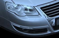 Close-up picture of a car. Stock Photos