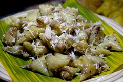 Thai dessert, khao tom mad, steamed sticky rice with banana Stock Photos