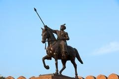Ganga singh statue in bikaner Stock Photos
