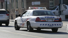 Toronto police car Stock Footage