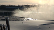 Stock Video Footage of Horseshoe Falls in Winter