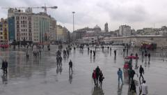 Istanbul, Taksim Square on a rainy day - stock footage
