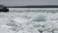 Stock Video Footage of Two ice breakers on the Niagara River