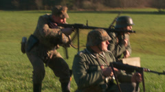 WW2 - German Soldier Group 1 - 17 Stock Footage