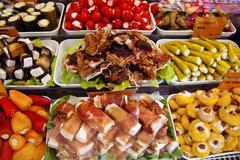Weekly market, fresh food Stock Photos