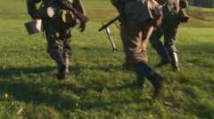 WW2 - German Soldier Group 1 - 19 Stock Footage