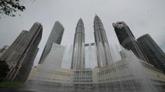 Kuala Lumpar - Petronas Towers1 Stock Footage